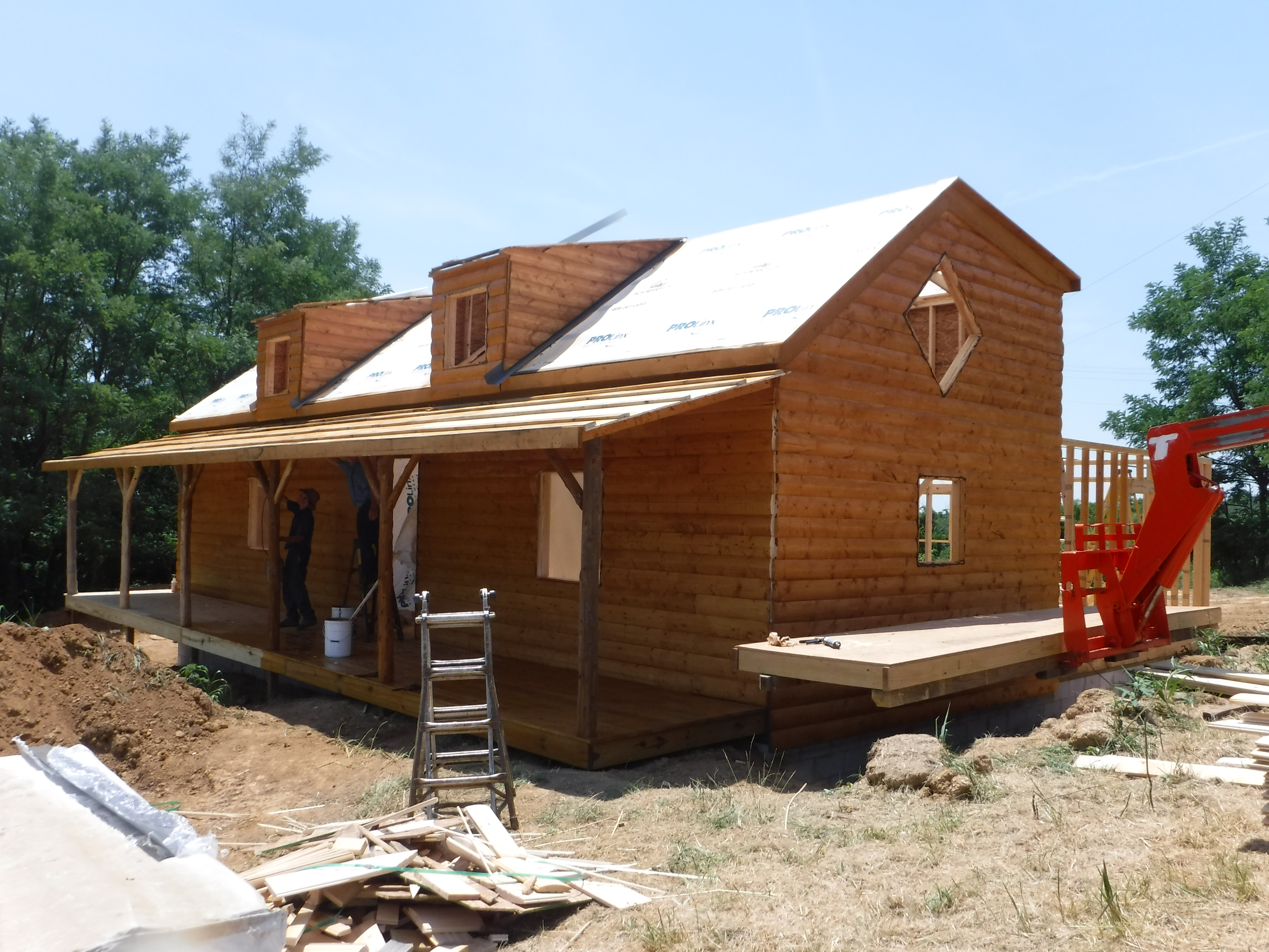 construction process of cabin