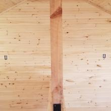 Inside Cabin Post and Beam